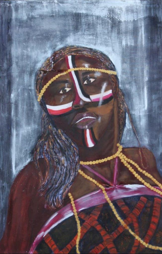 African Dance - Paint by Neisa Guerra