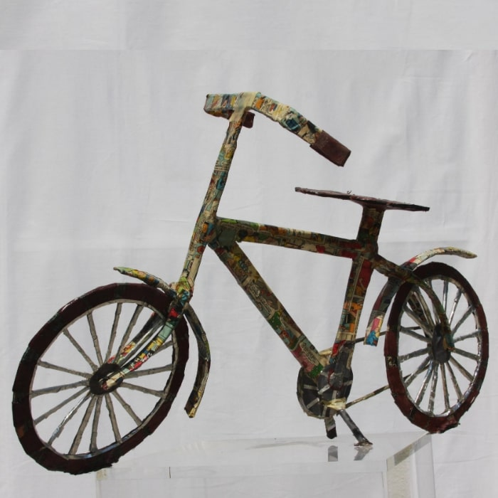The Bicycle, Sculpture By Neisa Guerra