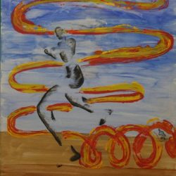 The Runner, Painting By Neisa Guerra